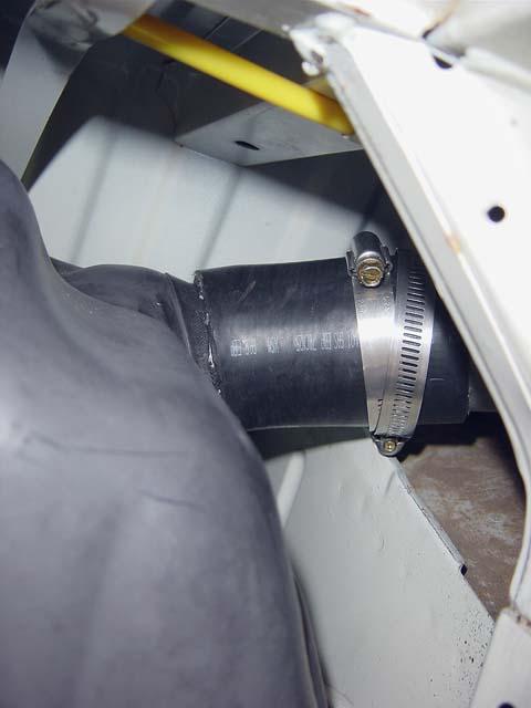 Customfillerhose on Fuel Tank Filler Neck