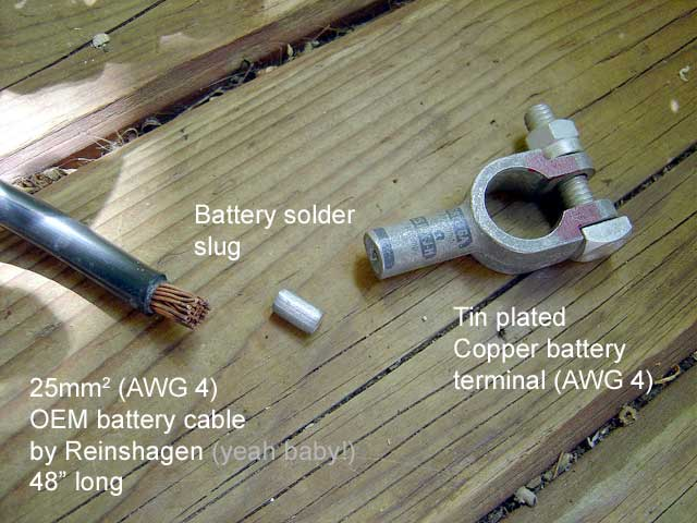 Auto Battery Cable Ends : Parts for sale