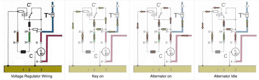 vw beetle alternator regulator wiring generator charging system tests  charging system tests