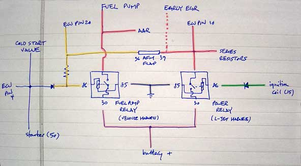 fuel pump relay wiring diagram vw circuit and schematics
