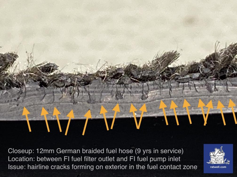 12mm cracked fuel hose