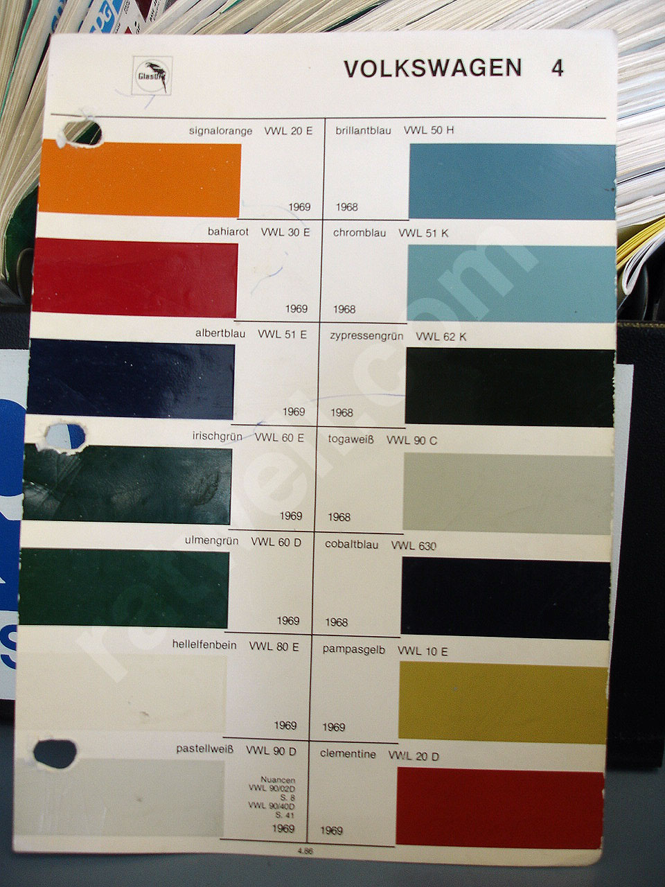 Reference 15 1971 Volkswagen Colors
