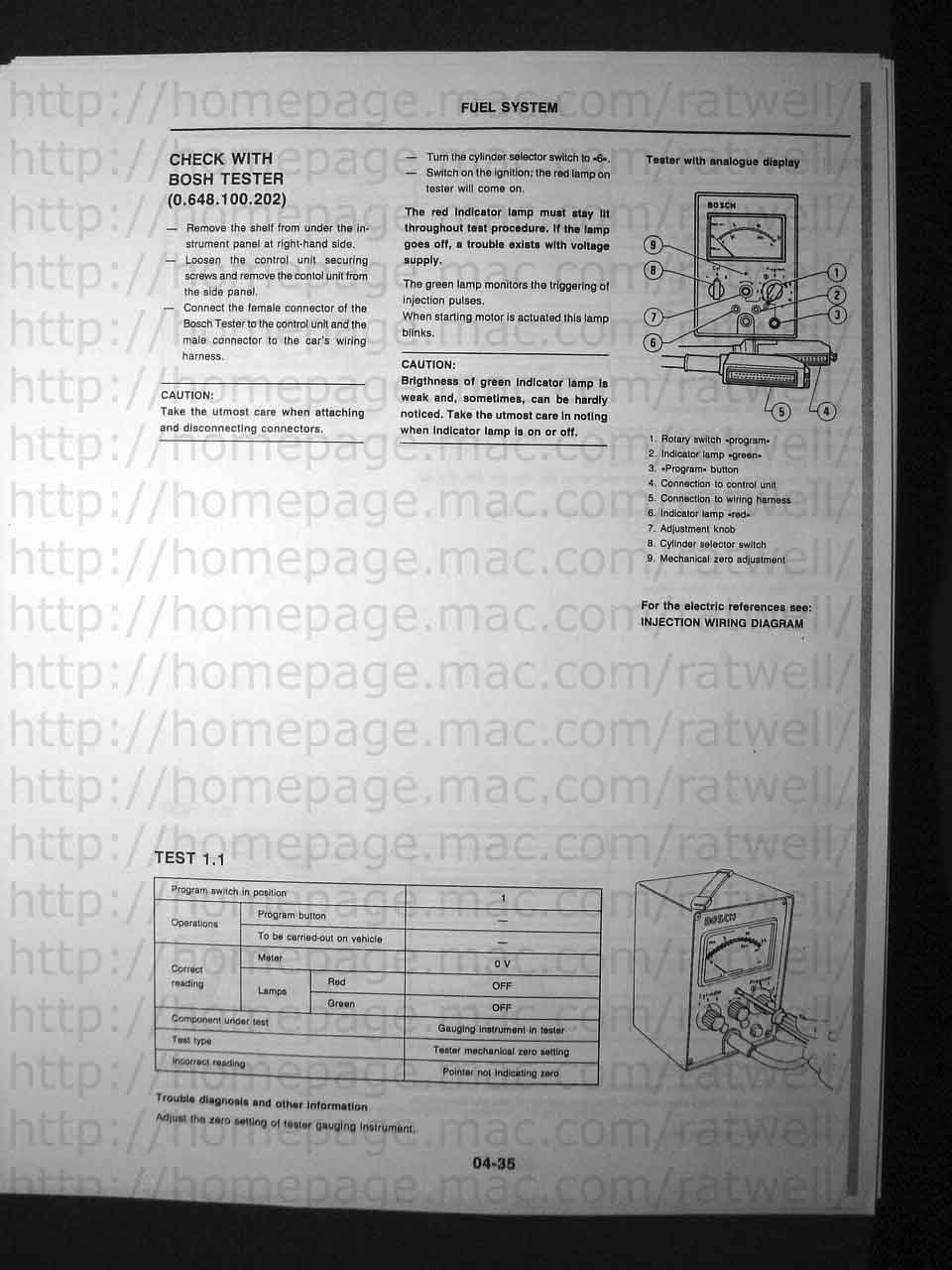 Bosch L Jetronic Tester Electrical Wire Harness Testers Manual1